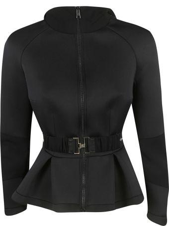 Elisabetta Franchi Celyn B. Ruffled Belt Jacket