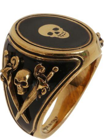 Alexander McQueen Enamel Signet Ring