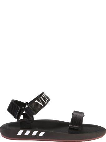 Valentino Garavani Logo Print Rubber Sandals