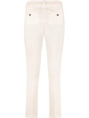 Weekend Max Mara Zanna Stretch Cotton Cigarette Trousers