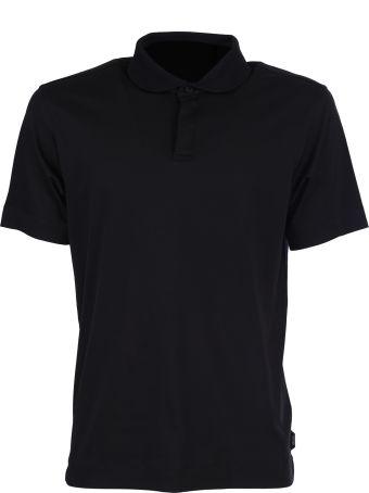 Ermenegildo Zegna Zegna black cotton polo shirt