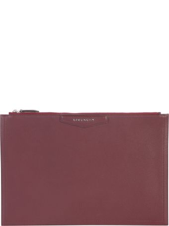 Givenchy Aubergine Large Antigona Clutch