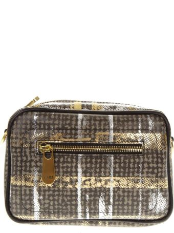 Gianni Chiarini Small Brown & Gold Shoulder Bag
