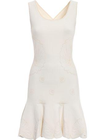 Alexander McQueen Shell Embroidered Dress