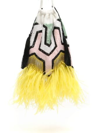 ATTICO Multicolor Bag With Beads And Feathers