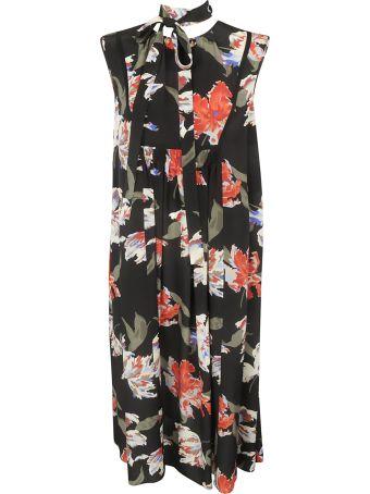 Rochas Floral Print Long Sleeveless Dress