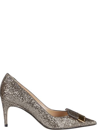 Sergio Rossi Gold-tone Leather Sr1 Pumps