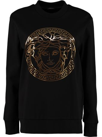 Versace Printed Cotton Crew-neck Sweatshirt