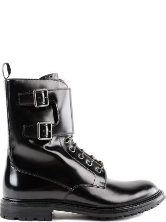 Church's Churchs Buckled Combat Boots