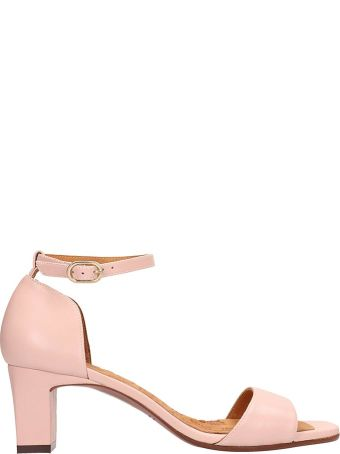 Chie Mihara Pink Leather Lusaka Sandals