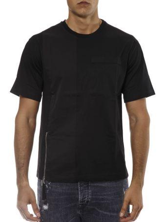 Diesel Black Gold Black Cotton T-shirt