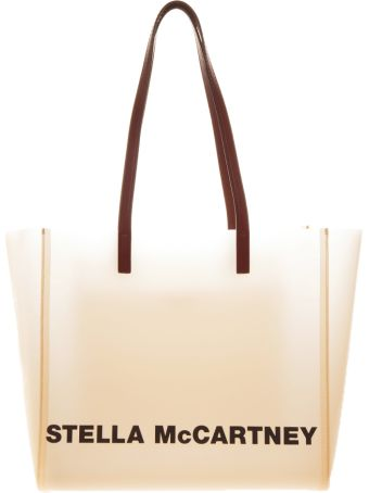 Stella McCartney Transparent Tote Bag With Logo Print