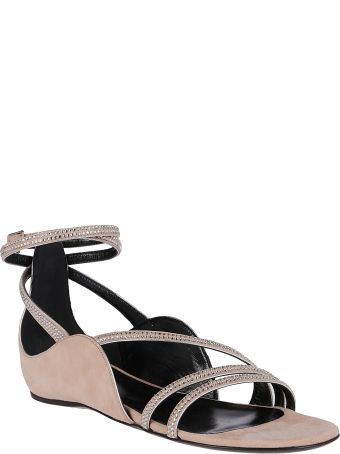 Pierre Hardy Nude Pink Leather Midnight Sandals