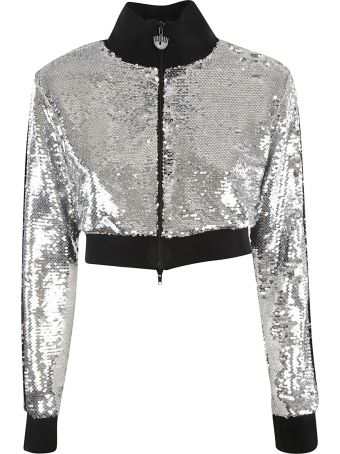 Chiara Ferragni Logomania Sequined Jacket