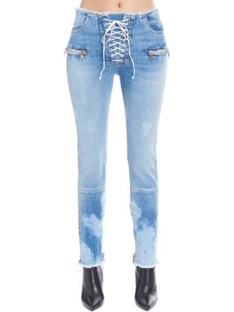 Ben Taverniti Unravel Project 'skinny Raw Lace Up' Jeans