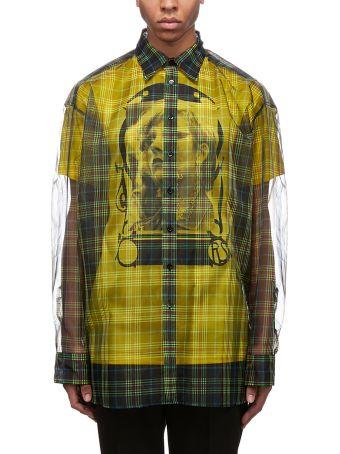Raf Simons Checked Transparent Shirt