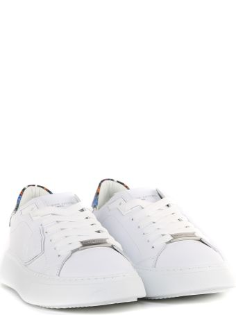 Philippe Model White Leather Temple Veau Sneakers