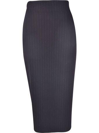 La Petit Robe Di Chiara Boni Pinstriped Skirt