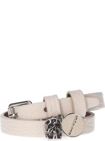 Alexander McQueen 'double Wrap Skull' Bracelet