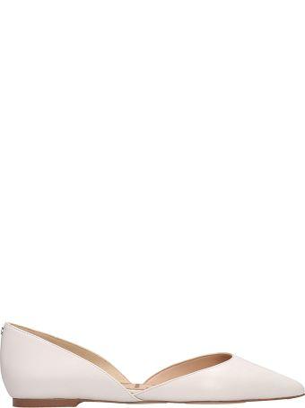 Sam Edelman White Leather Rodney Ballarines