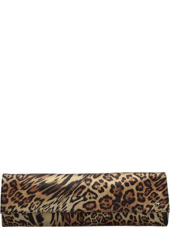 Giuseppe Zanotti Long Clutch In Animalier Fabric