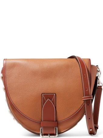 J.W. Anderson Bike Lace-up Smooth And Pebbled-leather Shoulder Bag
