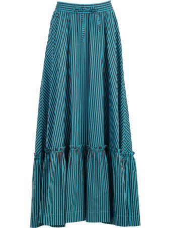 Parosh P.a.r.o.s.h. Stripped Flared Skirt