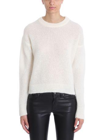 Laneus Beige Mohair Wool Sweater