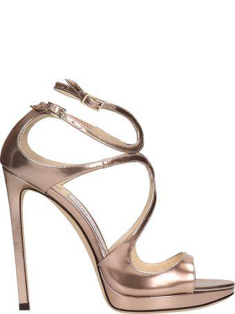Jimmy Choo Liquid Mirror Bronze Sandals