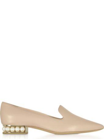Nicholas Kirkwood Blush Nappa Leather 25mm Casati Pearl Loafer