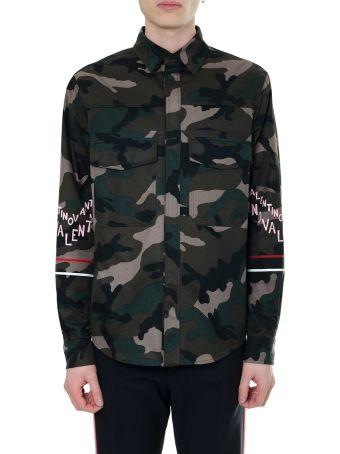 Valentino Camouflage Cotton Shirt