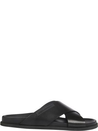 Dolce & Gabbana Cross Straps Sliders