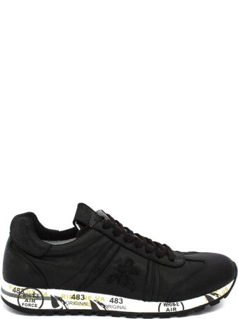 Premiata Lucy Sneaker In Black Leather And Nylon.