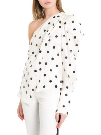 MONSE Single Long Sleeve Top With Sequins Dots