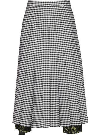 N.21 Lia Pleated Midi Skirt