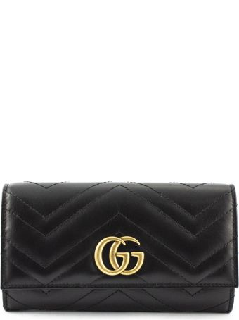 Gucci Gg Marmont Continental Wallet Black