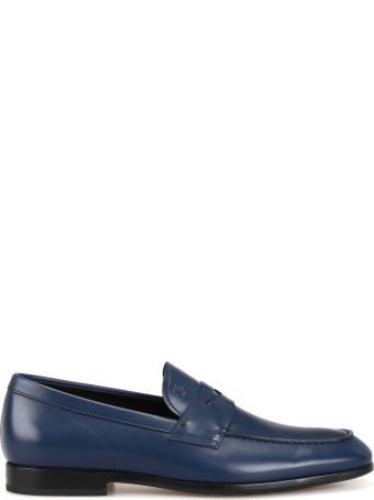 Tod's Smooth Leather Baltic Blue Loafers Xxm51b00010d90u803