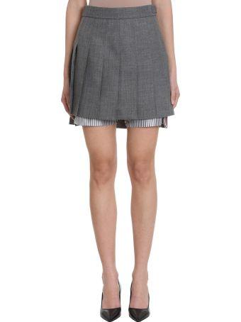 Thom Browne Pleated Bloomer Miniskirt