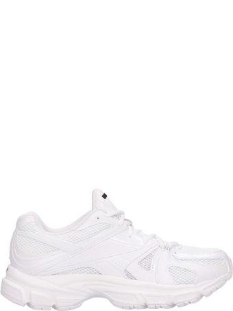 VETEMENTS White Fabric Spike Runner200 Sneakers
