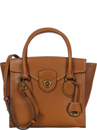 Ralph Lauren Leather Bowling Bag