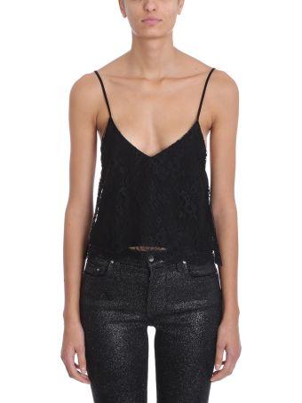 AMIRI Black Lace Camisole