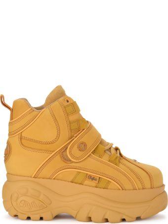 Buffalo 1348 Beige Leather High Top Sneaker