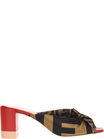 Fendi Sandal Mule Leather Fabbric