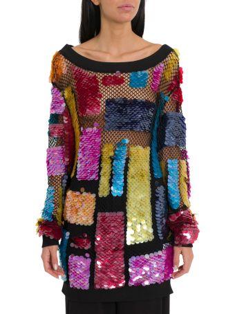 Amen Oversized Sweatshirt With Maxi Sequins