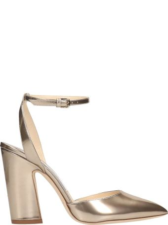 Jimmy Choo Gold Leather Micky Sandals