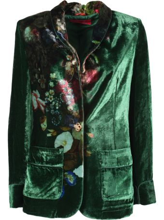 For Restless Sleepers F.r.s. Floral Print Blazer