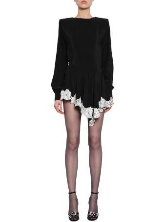 Alessandra Rich Crepe De Chine Dress