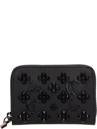 Christian Louboutin Black Leather Panettone Coin Wallet