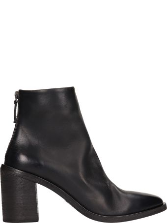 Marsell Tapiro Black Leather Ankle Boots