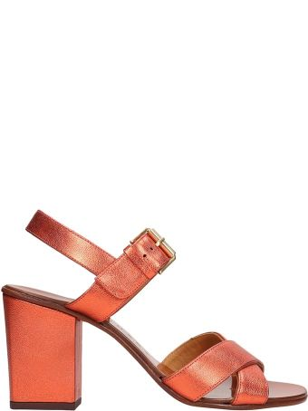 Chie Mihara Red Metallic Sandals Leather